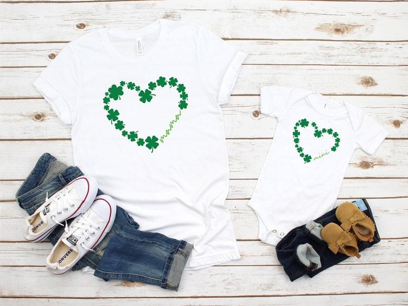 St Patrick day Shirt Mama and Mini Shirts Shamrock Shirt Mama and Me Matching Outfits Lucky Shirt Irish Shirt Lucky Women Shirt