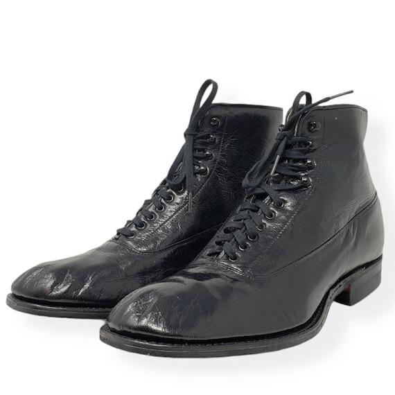 Boots 1930s 1940s Vintage Lace-Up Ankle M(6) W(8)