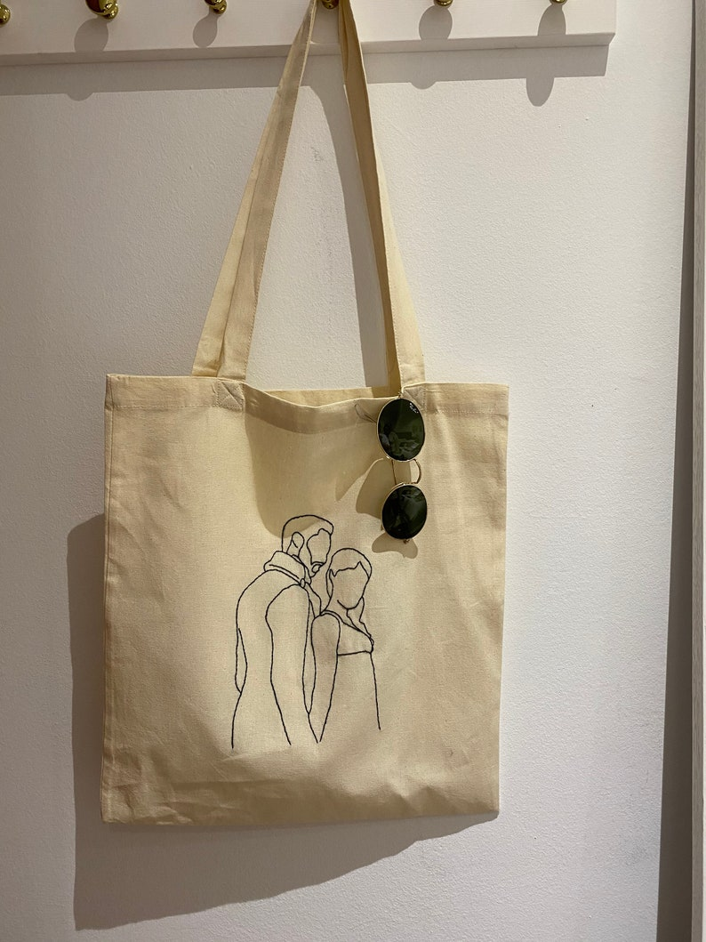 Hand-embroidered Tote Bag Bridgerton