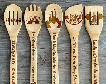 Unique decorative burned wooded servingcooking spoon