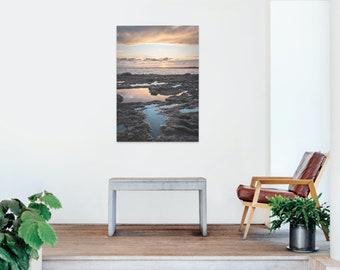 Laguna Beach Sunset Reflection and Sun Burst Photo Print - Lustre or Glossy
