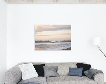 Offshore Winds Create Beautiful Waves and Surf at Sunset Beach Huntington Beach Photo Print - Lustre or Glossy
