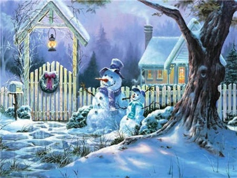 5D Diamond Painting Winter Landscape Full SquareRound Drill Mosaic 3D Diamond Embroidery Cross Stitch Kits Home Wall Decor Gifts