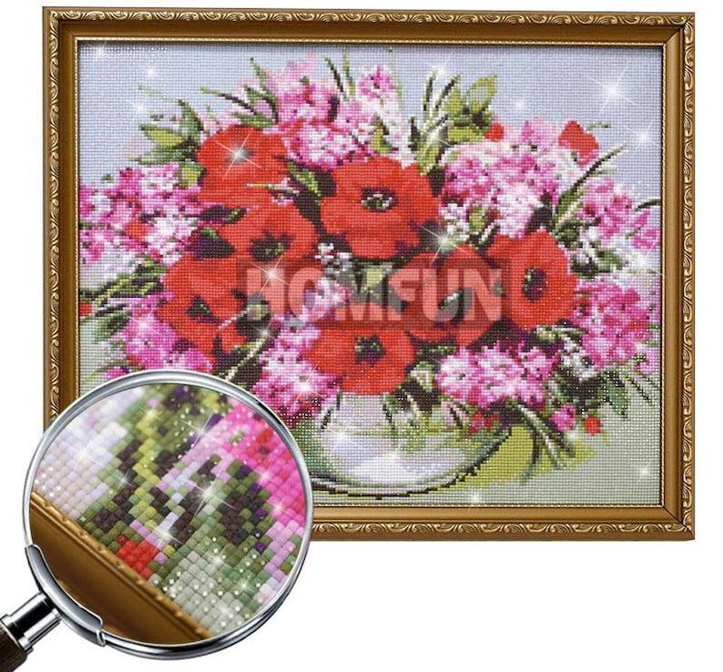 5D Diamond Painting Love Birds Full SquareRound Drill Mosaic 3D Diamond Embroidery Cross Stitch Kits Home Wall Decor Gifts