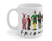 Friends Christmas Mug, LIMITED EDITION Ralphie, The Santa Claus , Clark Griswold, Elf, The Grinch, Kevin Home Alone, 11oz coffee mug