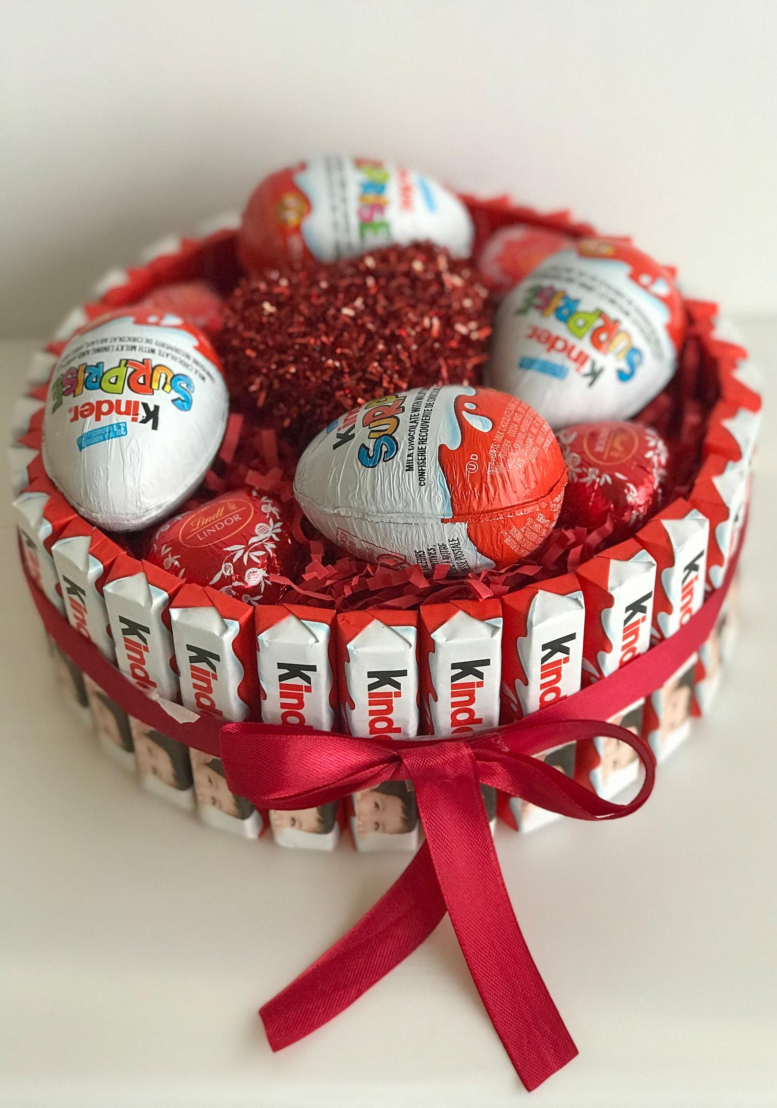 kinder Cake / Kinder Egg/Birthday Gift/Christmas Gift / Valentine Day Gift / Sweet Gift /Chocolate heart /Surprise Gift / Chocolate gift