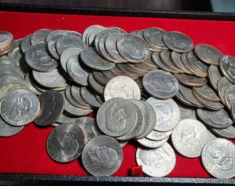Last of the Large Dollar Coins (20) Circulated Eisenhower Dollars Mixed Dates 1971-1978 Great for Tooth Fairy & Good Grades