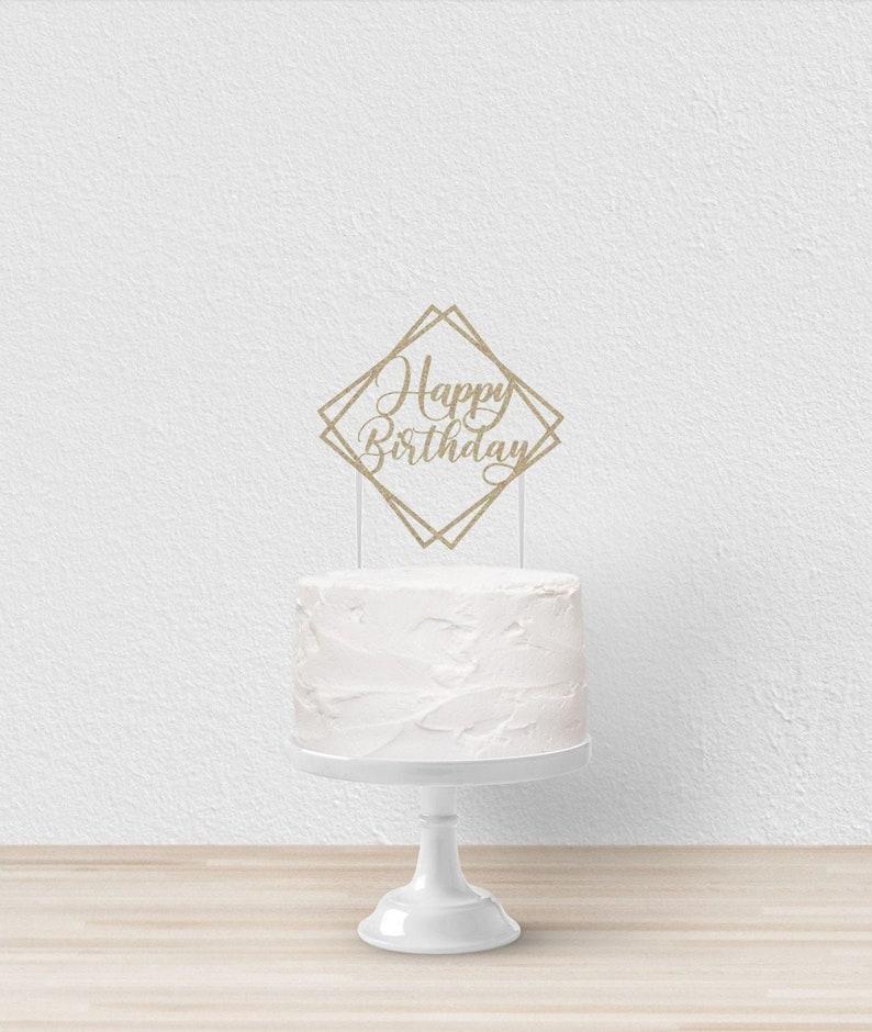 Custom Cake Toppers Cake Topper Happy Birthday Birthday Cake Topper