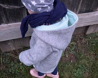 Woolwalk Jacket TRAKTOR in Grey Kids Jacket Unisex