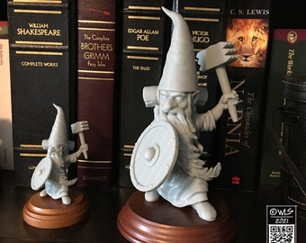 Guardin' Gnome, with Mace, [unpainted]