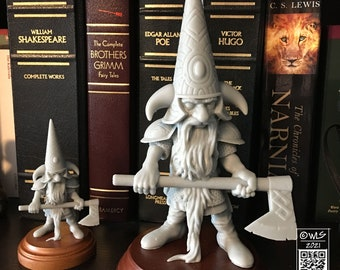 Guardin' Gnome with Axe, [unpainted]