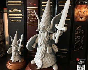 Guardin' Gnome with Sword, [unpainted]