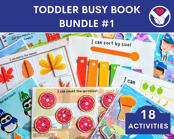 Toddler Busy Book  Toddler Busy Book Printable  Preschool