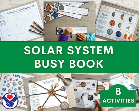 Solar System Busy Book  Space Theme Preschool Binder