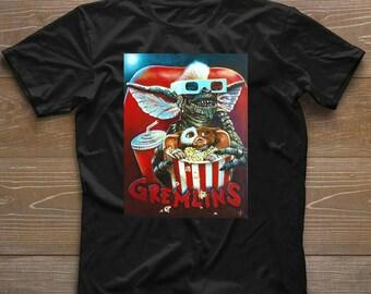 Gremlins T-Shirt - Retro - Film - Tv - Movie -80S - Cool - Gift - Actio T-shirt Gift Tee for Men Women Unisex T-Shirt