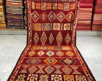 Old Boujaad Carpet, Vintage Berber Rug, Moroccan Rug, old Berber Rug,(6.5 Ft x 13.1 Ft)- Free Shipping Rug -