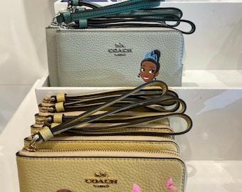 Princess Tangled Rapunzel  handmade zipper fabric coin change purse card holder