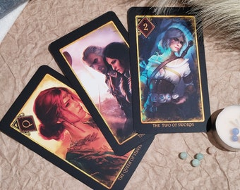 The Witcher Arcana Tarot 78 Cards Full Deck The Witcher Tarot The Witcher Original Tarot The Witcher Tarot Deck Gift For Him Gift For Her
