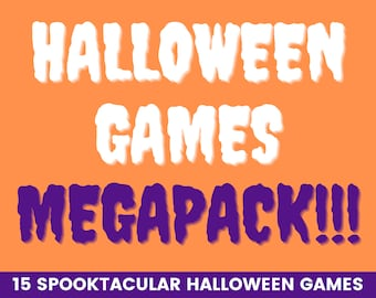 Halloween megapack - The ultimate Halloween games collection   14 Halloween party games   Printable Halloween games   Family Halloween games