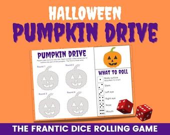 Pumpkin drive   Roll a pumpkin   Halloween Beetle drive   Dice rolling game   Printable game   Halloween ideas   Halloween party game