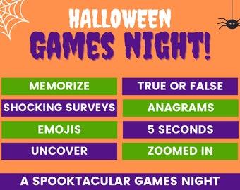 Halloween games night   Digital PowerPoint Halloween games   Halloween party games   Family Halloween games   Halloween ideas   Play on Zoom