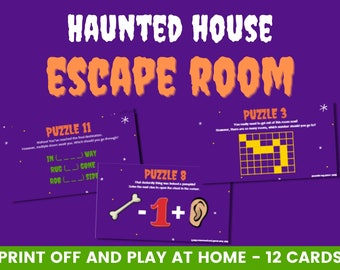 Haunted House printable escape room   Halloween escape room   Printable escape room   Escape room for kids