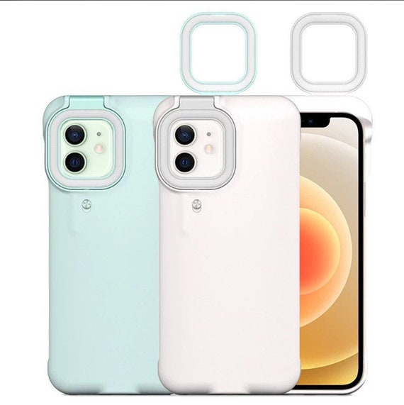 Selfie Ring Light Case Slim Design Shockproof Protective Compatible with iPhone 12 / iPhone 12 Pro Case for Makeup Live Streaming YouTube Vl