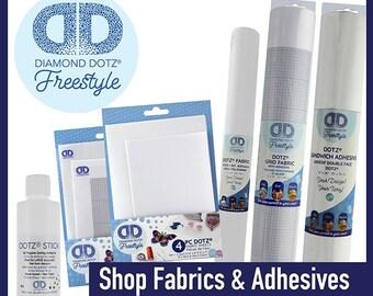 Diamond Dotz Freestyle Diamond Dotting - Fabrics & Adhesives (A)