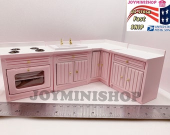 TomaiBaby Dollhouse Stove 1 12 Miniature Furniture Model Wood Mini Kitchen Toy Dollhouse Accessory for Kids Children Dollhouse Supplies
