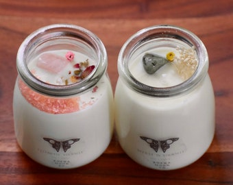 Wake Up/& Slay-No Bad Vibes-In My Own Lane-Calm Mind Strong Vibes. Koena Moon Candles-The Good Intention Set