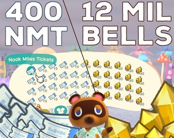 Millions Bells Nook Miles Tickets NMT Gold Nuggets ACNH Animal Crossing New Horizons