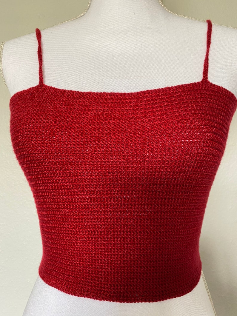 Rose Red Crochet Crop Top!