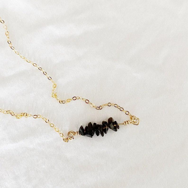 THE VIBRATION COLLECTION Black Smokey Quartz Necklace