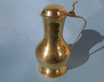 Messinvase 633g made of solid brass carafe decoration vase heavy metal carafe 13 cm