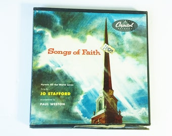 """Capitol Records """"Songs of Faith"""" - Sung by Jo Stafford - 45 RPM - Three Record Box Set - Free Shipping"""