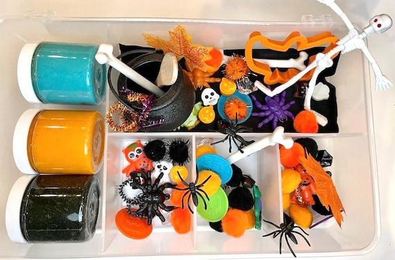 Halloween Spooky Homemade Sensory Dough Kit  Sensory Kit