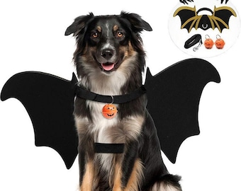 Halloween Pet Costume for Dogs and Cats Bat Wings, Golden Bat Wings.