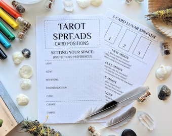 Digital Journal Pages, Tarot Spreads Chapter, Tarot Guidebook Journal, Tarot Journal, Tarot, Spreads, Tarot Journal Pages, Digital file