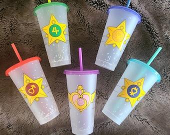 Pretty Guardian Sailor Moon Color Changing Cups   Starbucks Venti Limited Edition Confetti cups 2021