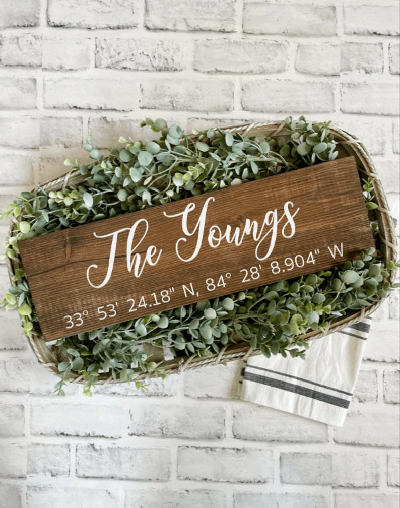 Home Coordinates Family Name Sign