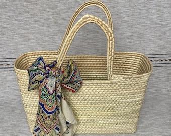 Mexican Boho Shopper Bag | Hand Woven Palm Bag