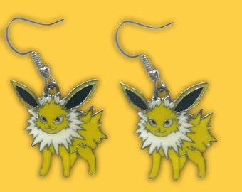 Beaded Jolteon Hoop Earrings