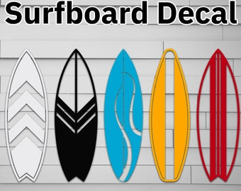 Surfboard Decal, sticker, surf board, beach, summer, surfing, Car, Window, Laptop, Phone