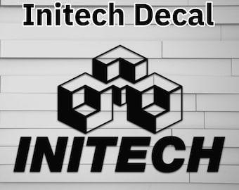 Initech Vinyl Decal (office space) (for Car laptop window tumbler water bottle)