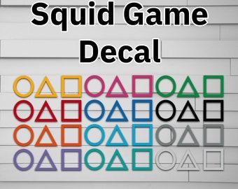 Squid Game Decal, Car Decal, Car Sticker, Window Decal, Window Sticker, Laptop Decal, Laptop Sticker, Phone Decal, Phone Sticker