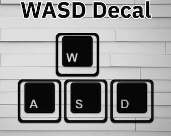 WASD Vinyl Decal for Car (gaming FPS) for laptop window tumbler water bottle computer sticker)
