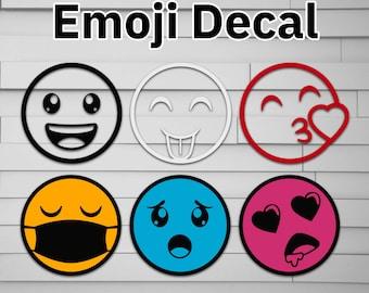 Emoji Vinyl Decal Sticker, Tumbler Decal, Smiley Face Sticker, Happy Face Decal, Smile Decals, Emoji Decal, Car Decal, Simplistic Decal