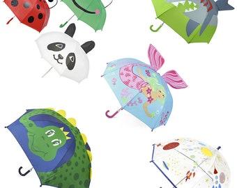 Kids Boys Girls Childrens 3D Umbrella