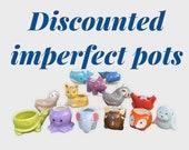 IMPERFECT Animal Succulent pots