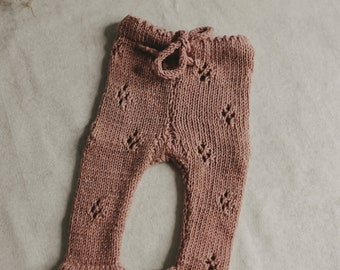Knitted leggings | Knitted trousers | Knit | leggings Newborn Leggings | Newborn Pants
